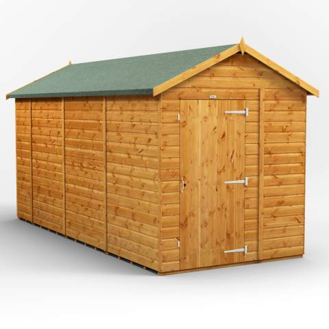 Power Sheds 14x6 Power Windowless Apex Garden Shed