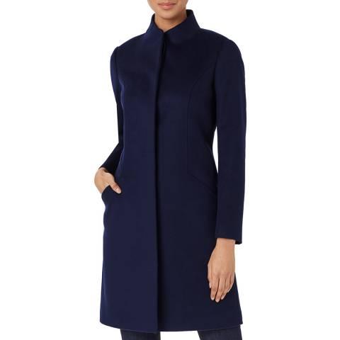 Hobbs London Navy Mandy Wool Coat