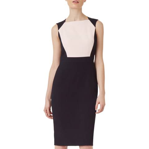 Hobbs London Navy Petite Shea Dress