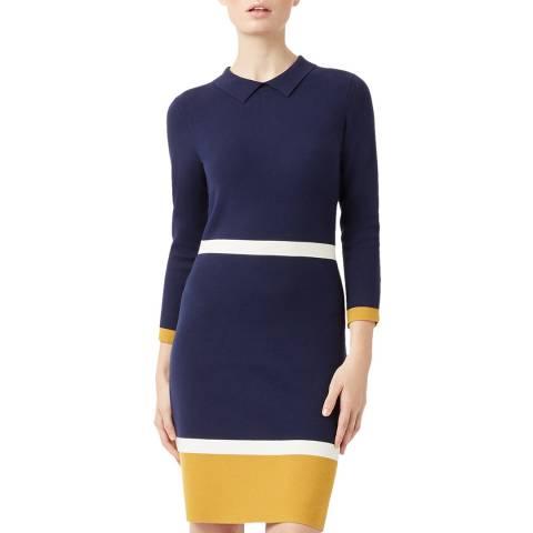 Hobbs London Navy Thelma Dress