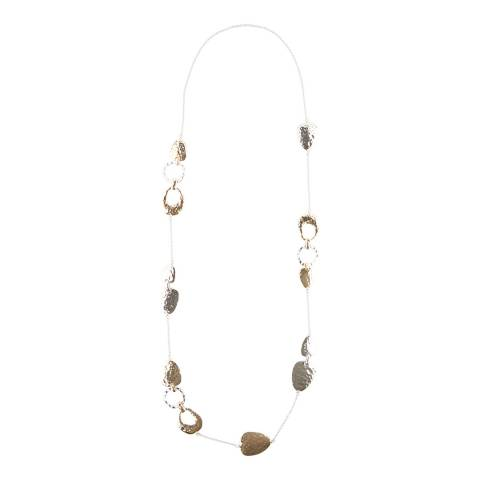 Hobbs London Silver/Gold Harriet Long Necklace