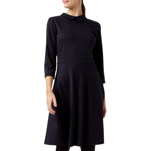 Hobbs London Navy Lillith Dress