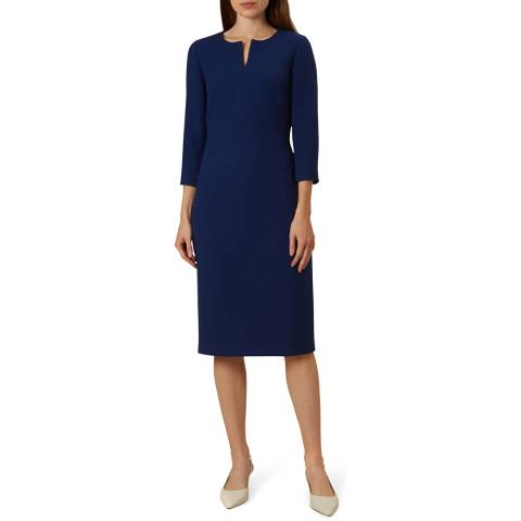 Hobbs London Blue Viviene Dress