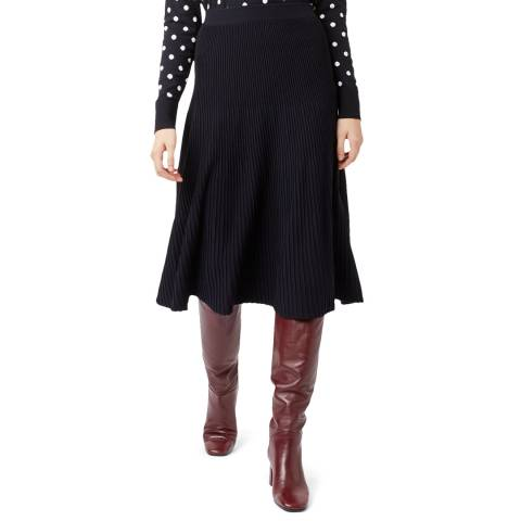 Hobbs London Navy Ana Knitted Skirt