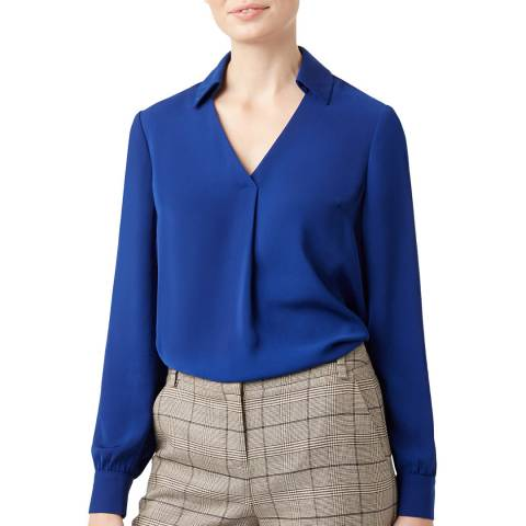 Hobbs London Blue Philippa Blouse