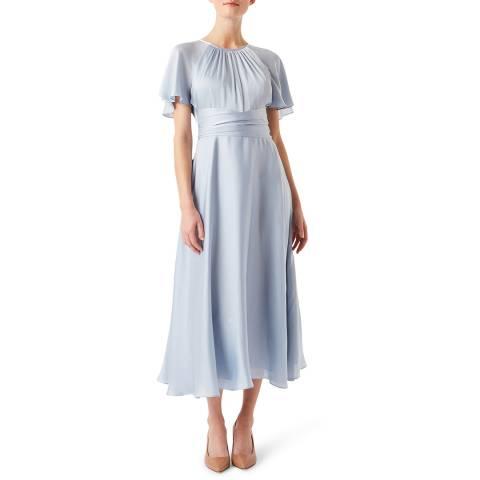 Hobbs London Pale Blue Mira Dress