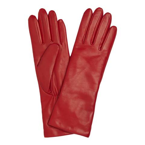L K Bennett Red Ysabeau Leather Gloves