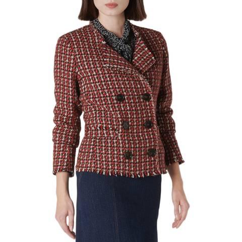 L K Bennett Red Edith Tweed Jacket