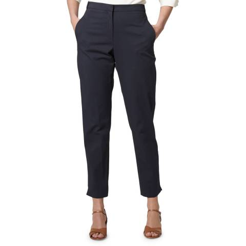 L K Bennett Navy Fitted Gretta Trousers