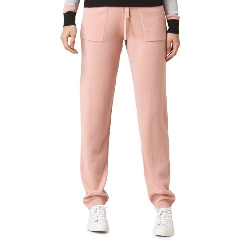 L K Bennett Pink Mika Wool/Cashmere Relaxed Joggers