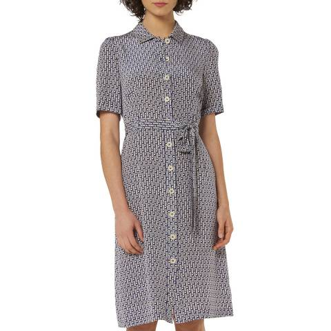 L K Bennett Navy Irennie Shirt Dress