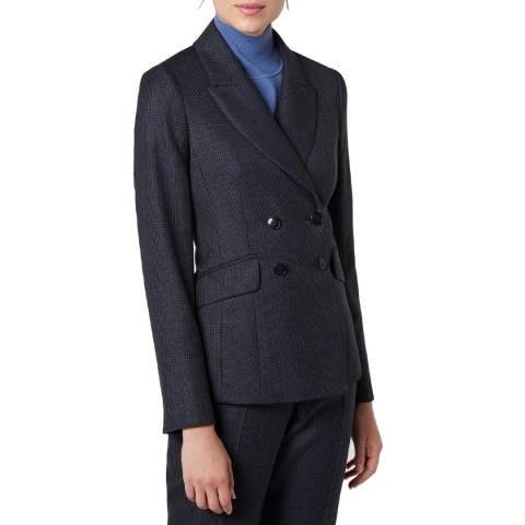 L K Bennett Navy Smart Wool Hattie Jacket