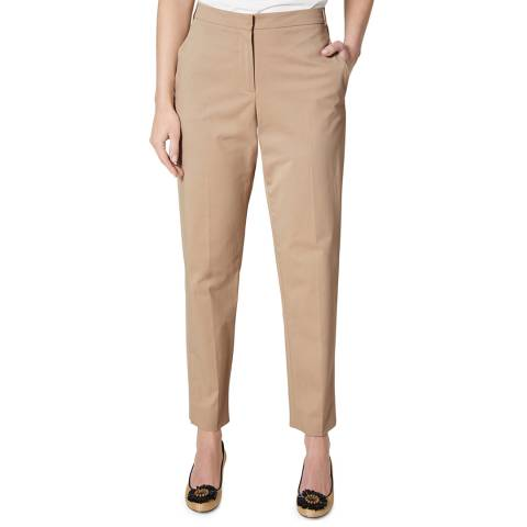 L K Bennett Beige Fitted Gretta Trousers
