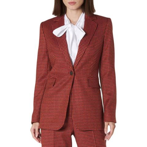 L K Bennett Red Ingrid Wool Blend Jacket