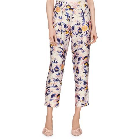 L K Bennett Multi Ine Printed Trousers