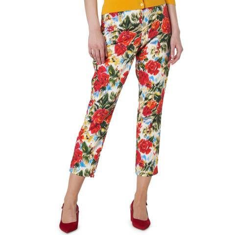 L K Bennett Multi Floral Issie Trousers