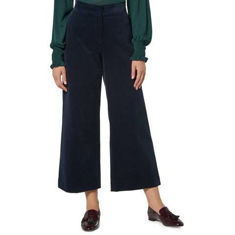 L K Bennett Navy Cord Kamika Trousers