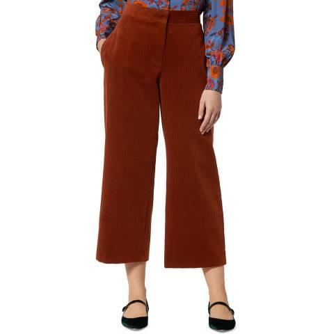 L K Bennett Brown Cord Kamika Trousers