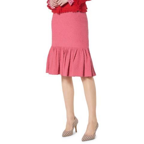 L K Bennett Pink Peplum Ainsley Skirt