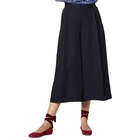 L K Bennett Navy Wide Leg Loren Trousers