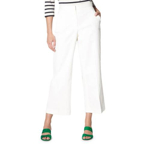L K Bennett White Cropped Oda Trousers