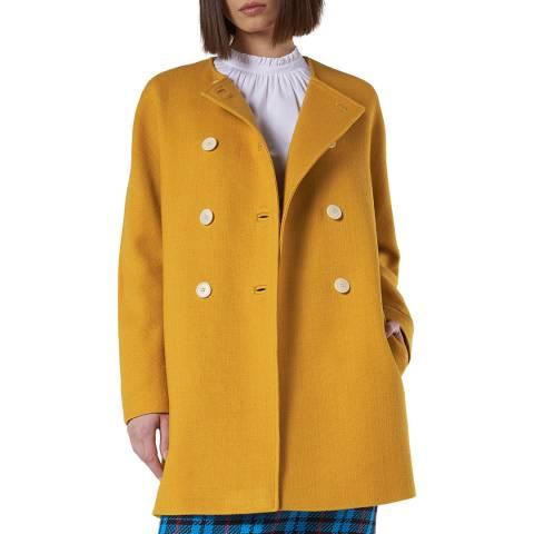 L K Bennett Yellow Stylish Wool Blend Tammie Coat