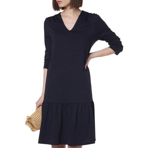 L K Bennett Navy Ambeline Knee Length Dress
