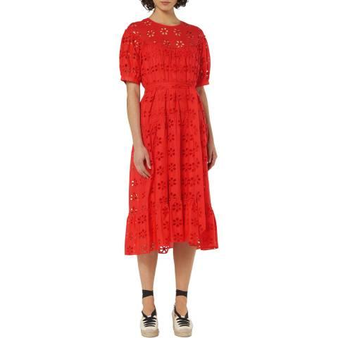 L K Bennett Red Summer Rego Dress