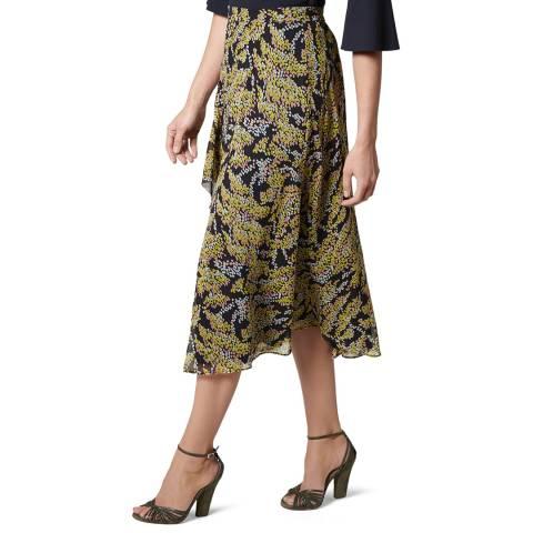 L K Bennett Multi Kimi Silk Midi Skirt
