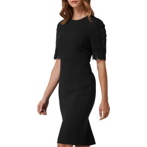 L K Bennett Black Fitted Cerys Dress