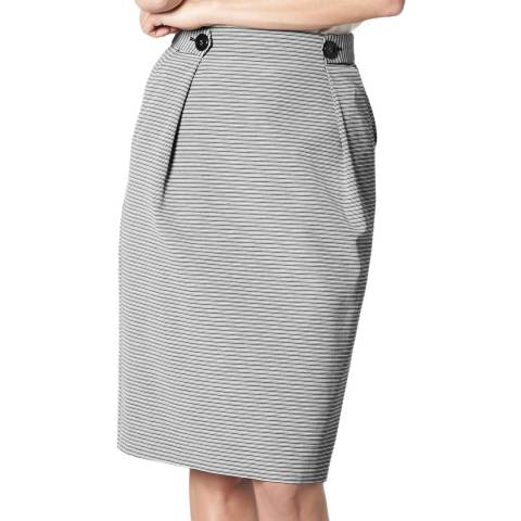 L K Bennett Grey Smart Knee Length Mableen Skirt