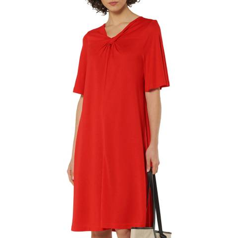 L K Bennett Red Relaxed Twist Dress