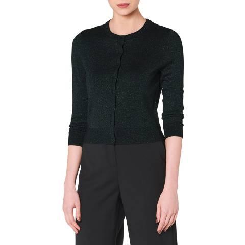L K Bennett Black Nova Wool Fitted Cardigan