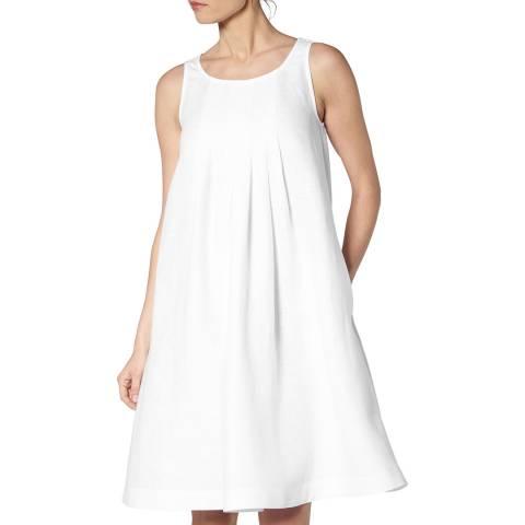L K Bennett White Brodie Sleeveless Dress