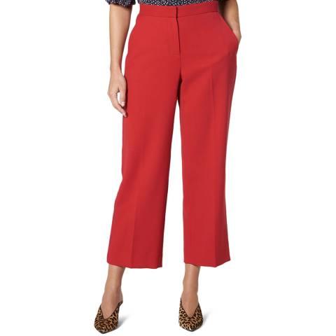 L K Bennett Red Adriana Straight Leg Trousers
