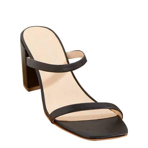 Mint Velvet Black Jay Mule Heeled Sandals