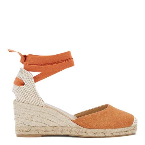 Mint Velvet Orange Beth Espadrille Wedges