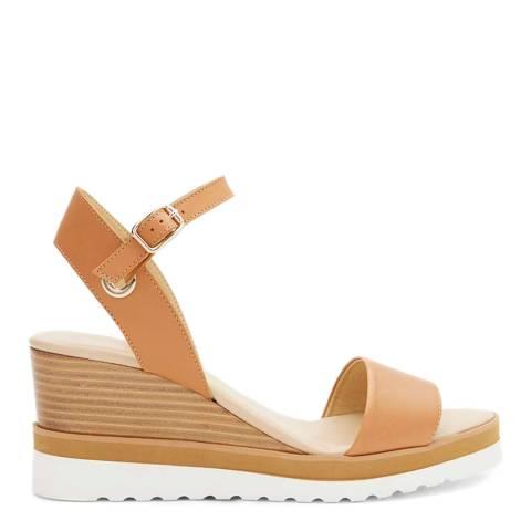 Mint Velvet Tan Remy Sport Wedge Sandals