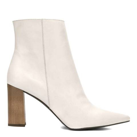 Mint Velvet Off-White Melanie Ankle Boots