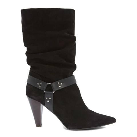 Mint Velvet Black Ryder Suede Slouchy Boot
