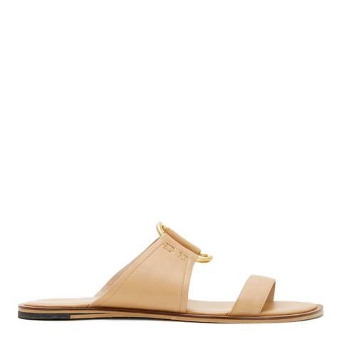 Mint Velvet Camel Gina Leather Sandals