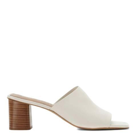 Mint Velvet Off-White Dotty Leather Mules