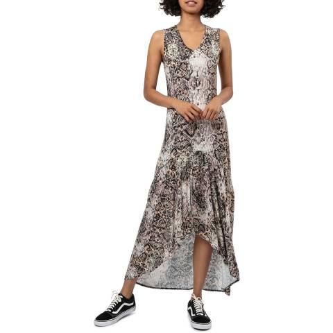 Religion Printed Round Neck Maxi Dress