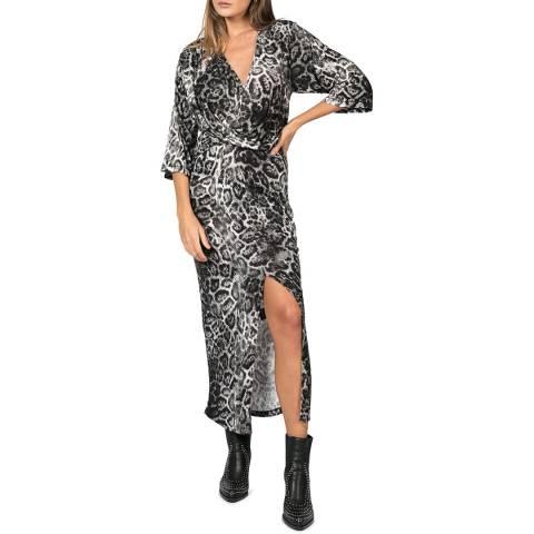 Religion Pace Print Side Split Maxi Dress