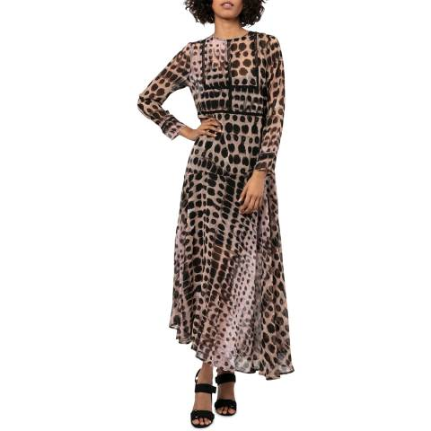 Religion Printed Fitted Maxi Dress