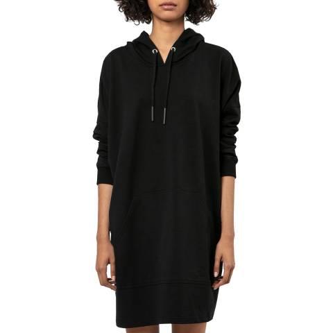 Religion Black Mini Hooded Dress