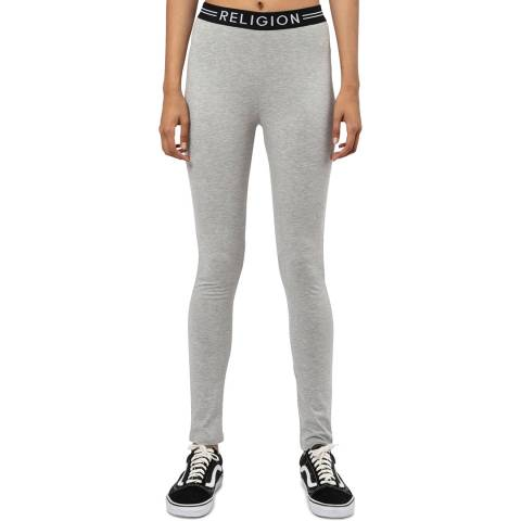 Religion Grey Fitted Leggings