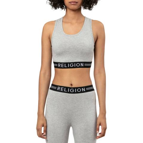 Religion Grey Fitted Sports Top