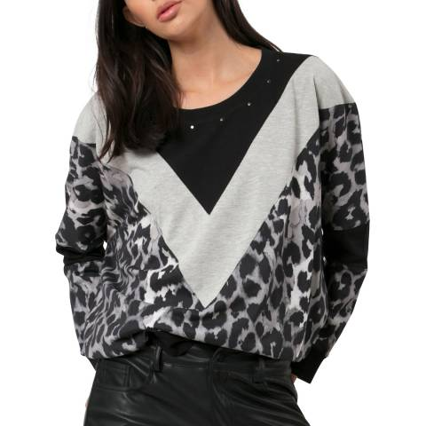 Religion Panther Print Loose Top