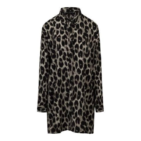 Religion Leopard Print Loose Shirt